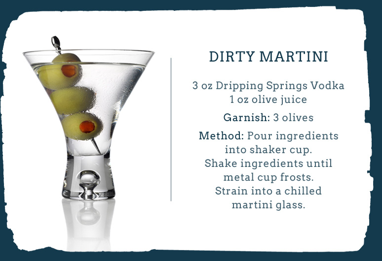 About The Dirty Martini Cocktail